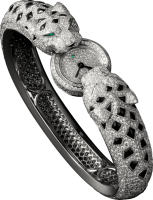 Cartier Creative Jeweled Watches Bestiaire Watches Two Panther Head Motif Watch HPI00607