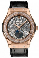Hublot Classic Fusion Aerofusion Moonphase King Gold Diamonds 45 mm 517.OX.0180.LR.1104