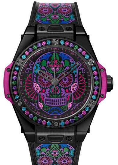 Hublot Big Bang One Click Calavera Catrina Black Ceramic 465.CX.1190.VR.1299.MEX18
