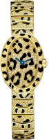 Cartier Creative Jeweled Mini Baignoire panther spots watch HPI00961