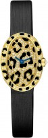 Cartier Creative Jeweled Mini Baignoire panther spots watch HPI00962